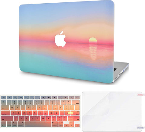Macbook Case with Keyboard Cover and Screen Protector Package | Color Collection - Sunset