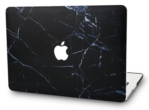 Macbook Case | Marble Collection - Black Marble - Case Kool
