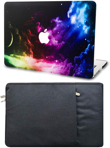 Macbook Case with Sleeve Package | Galaxy Space Collection - Colorful Space - Case Kool