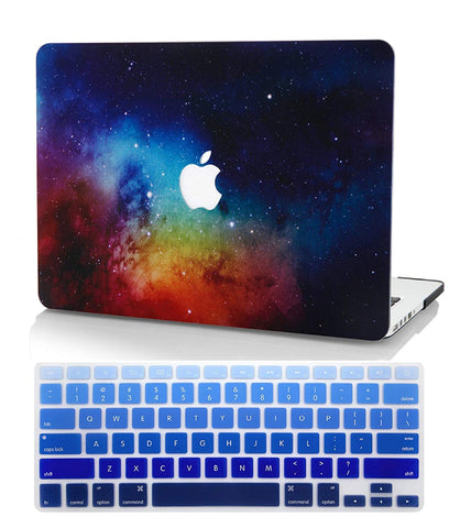 Macbook Case with US/CA Keyboard Cover' Package | Galaxy Space Collection - Night Dream - Case Kool