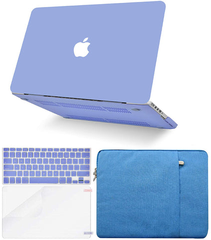 Macbook Case with Keyboard Cover, Screen Protector and Sleeve Package | Color Collection - Pale Blue - Case Kool