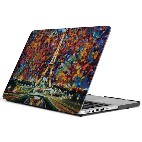 Macbook Case | Oil Painting Collection - Day view of Eiffel Tower - Case Kool