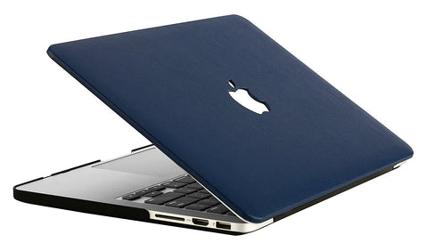 the best attitude 49cfb 467e7 Macbook Case | Leather Collection - Navy