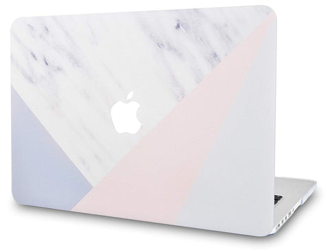 Macbook Case | Marble Collection - White Marble with Pink Grey - Case Kool