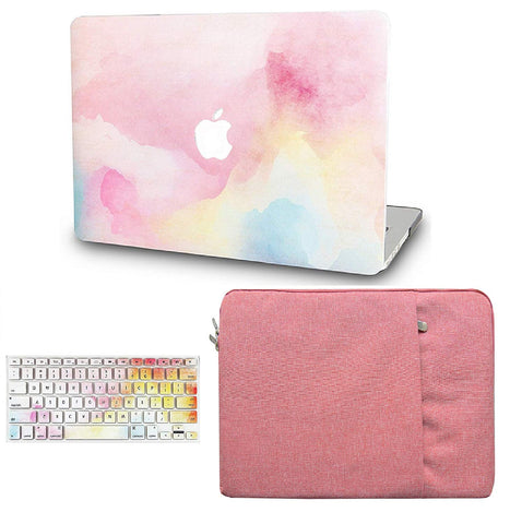 Macbook Case with Keyboard Cover and Sleeve Package | Painting Collection - Rainbow Mist - Case Kool