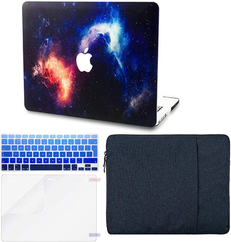 Macbook Case with Keyboard Cover and Sleeve Package | Galaxy Space Collection - Nebula