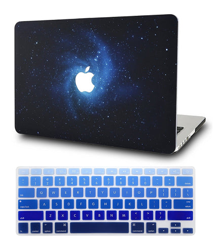 Macbook Case with Keyboard Cover Package | Galaxy Space Collection - Blue - Case Kool