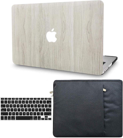 Macbook Case with Keyboard Cover and Sleeve Package | Wood Collection - Pine Wood 2