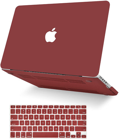 Macbook Case with Keyboard Cover Package | Color Collection -Matte Wine Red