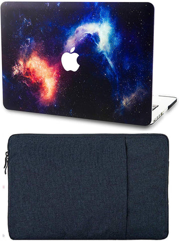 Macbook Case with Sleeve Package | Galaxy Space Collection - Orange - Case Kool
