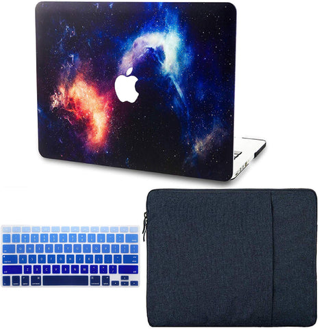 Macbook Case with Keyboard Cover and Sleeve Package | Galaxy Space Collection - Orange - Case Kool