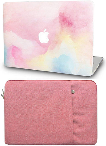 Macbook Case with Sleeve Package | Painting Collection - Rainbow Mist - Case Kool