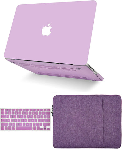 Macbook Case with Keyboard Cover and Sleeve Package | Lavender