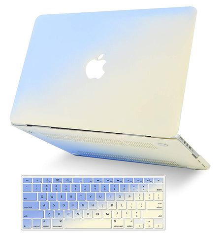 Macbook Case with Keyboard Cover Package | Color Collection - Blue Cream - Case Kool