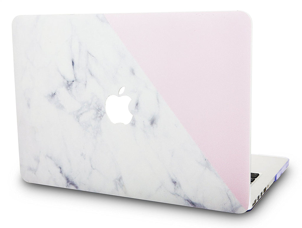 sports shoes e55e9 d39a6 Macbook Case | Marble Collection - White Marble with Pink