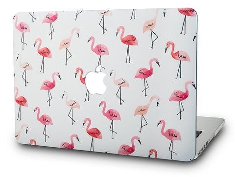 Macbook Case | Oil Painting Collection - Pale Red Birds - Case Kool