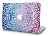 Macbook Case with Keyboard Cover Package | Color Collection - Purple Medallion - Case Kool