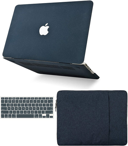 Macbook Case with Keyboard Cover and Sleeve Package | Matte Navy Green