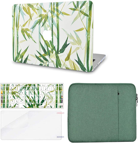 Macbook Case with Keyboard Cover, Screen Protector and Sleeve Package | Color Collection - Bamboo