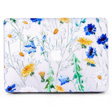 Macbook Case with US/CA Keyboard Cover' Package | Floral Collection - Leaves and Flowers - Case Kool