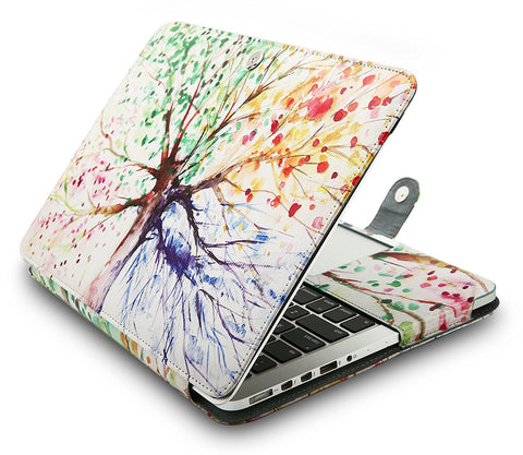 Macbook Case | Leather Collection - Four Season Tree - Case Kool