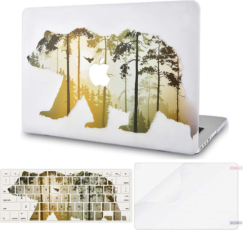 Macbook Case with Keyboard Cover and Screen Protector Package | Color Collection - Bear