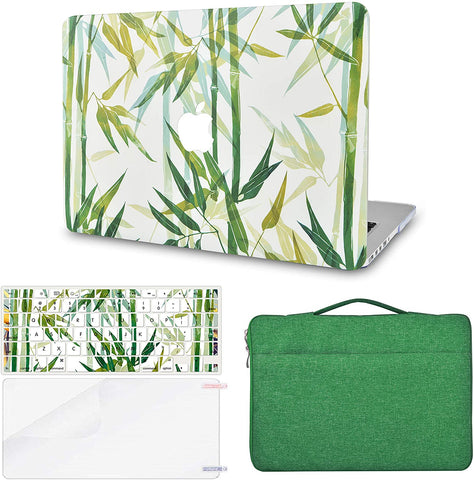 Macbook Case with Keyboard Cover, Screen Protector and Sleeve Bag | Bamboo