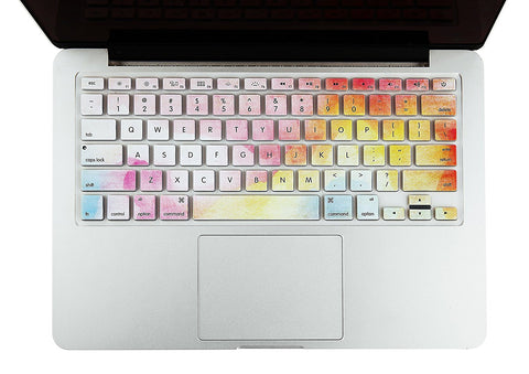 Macbook Ultra-Thin Keyboard Cover - Rainbow Mist (US/CA keyboard) - Case Kool