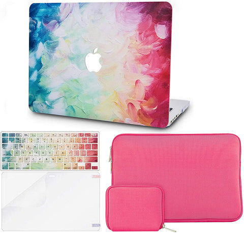 Macbook Case with Keyboard Cover + Slim Sleeve + Screen Protector + Pouch |Fantasy