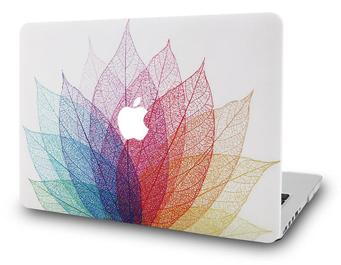 Macbook Case | Oil Painting Collection - Leaf - Colorful 2 - Case Kool