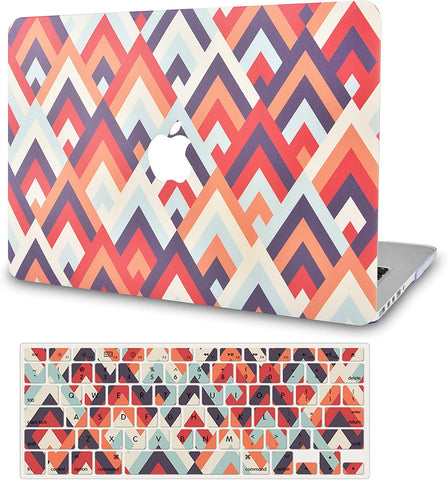 Macbook Case with Keyboard Cover Package | Colorful Triangles 2