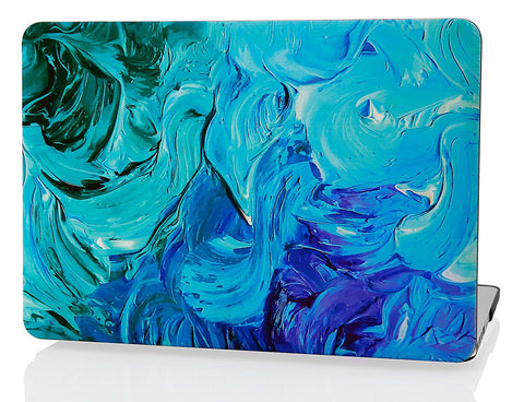 Macbook Case | Oil Painting Collection - Blue Paint - Case Kool
