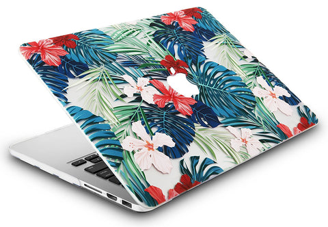 purchase cheap ed5c1 1f23f Macbook Case | Floral Collection - Palm Leaves Red Flower