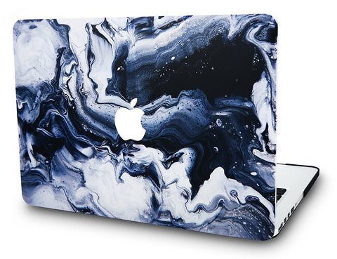 Macbook Case | Marble Collection - Black Grey Marble - Case Kool