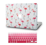 Macbook Case with US Keyboard Cover Package | Color Collection - Flamingo - Case Kool