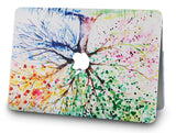 Macbook Case with US/CA Keyboard Cover' Package | Oil Painting Collection - Four Season Tree - Case Kool