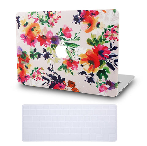Macbook Case with Keyboard Cover Package | Floral Collection - Flower 8 - Case Kool