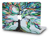 Macbook Case with US/CA Keyboard Cover' Package | Oil Painting Collection - Colorful Tree - Case Kool