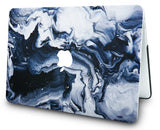 Macbook Case with Keyboard Cover and Sleeve Package | Marble Collection - Black Grey Marble - Case Kool