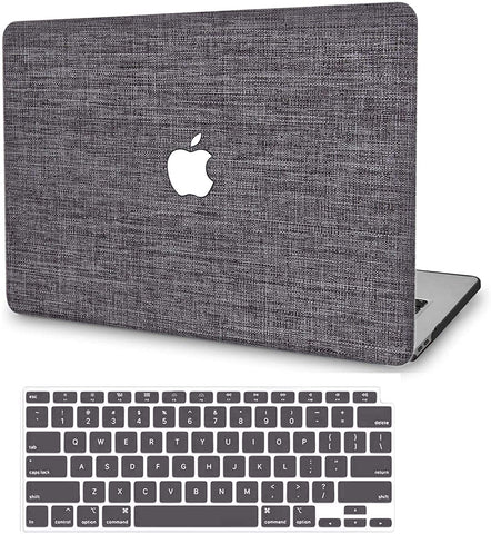 Macbook Case with Keyboard Cover Package | Color Collection - Grey Fabric