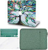Macbook Case with Keyboard Cover, Screen Protector and Sleeve Package | Painting Collection - Colorful Tree - Case Kool