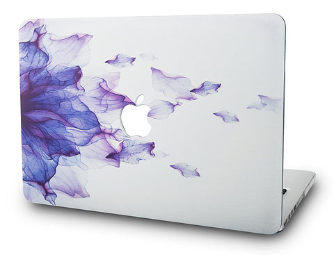 Macbook Case | Floral Collection - Purple Flower - Case Kool