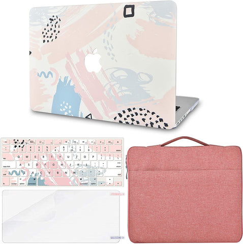 Macbook Case with Keyboard Cover, Screen Protector and Sleeve Bag |Watercolor Paint 2