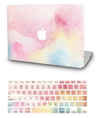 Macbook Case with US/CA Keyboard Cover' Package | Oil Painting Collection - Rainbow Mist - Case Kool