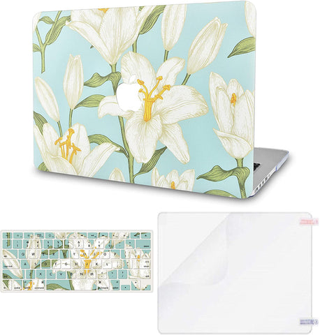 Macbook Case with Keyboard Cover and Screen Protector Package | Floral Collection -Flower 11