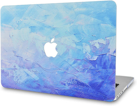 Macbook Case | Color Collection -   Blue - Water Paint 2