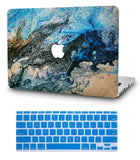 Macbook Case with US Keyboard Cover Package | Oil Painting Collection - Sea - Case Kool