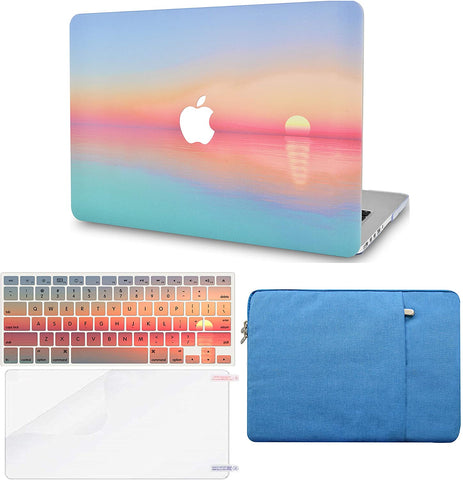 Macbook Case with Keyboard Cover, Screen Protector and Sleeve Package | Color Collection - Sunset