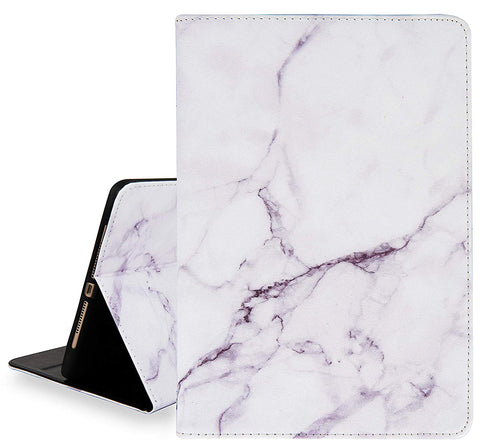 iPad Case | Marble Collection -  White Marble - Case Kool