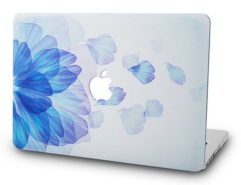 Macbook Case | Floral Collection - Blue Flower - Case Kool